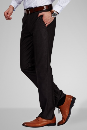 LOUIS PHILIPPE Slim Fit Formal Trousers