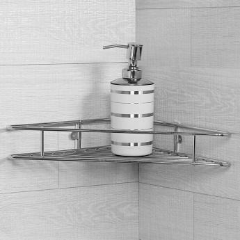 Adrian Aeron Stainless Steel Corner Net Shelf