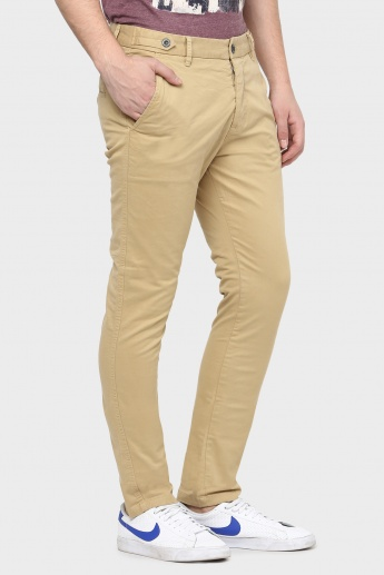 BREAKBOUNCE Solid Slim Fit Pants
