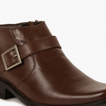 FRANCO LEONE Buckle Detail Boots