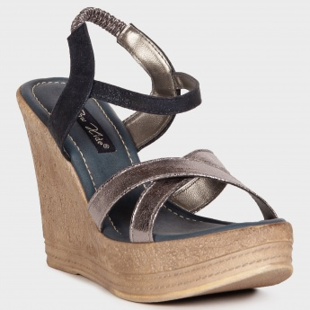 RAW HIDE Strappy Lush Wedges
