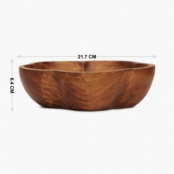 Cinerea Wooden Flower Shaped Bowl