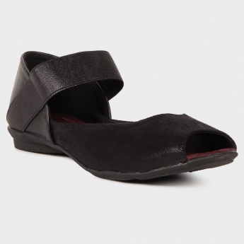 RAW HIDE Peep Toe Sandals