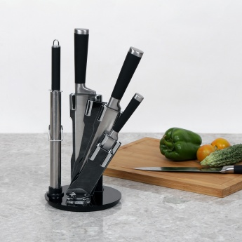 Scheffield 8 Pc Knife Block Set With Rotating Base