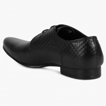 FRANCO LEONE Textured Patch Laceup Shoes