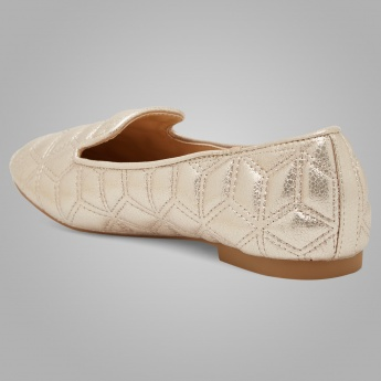TRESMODE Quilted Metallic Flats