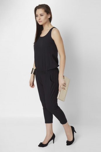 GINGER Solid Sleeveless Jumpsuit