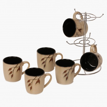 Caraway Stoneware Mug With Stand- Set Of 6 - 220 ml