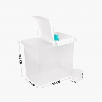 Orion Storage Box With Measuring Cup-16.5 Ltr