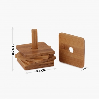 Edulis Bamboo Coaster Set