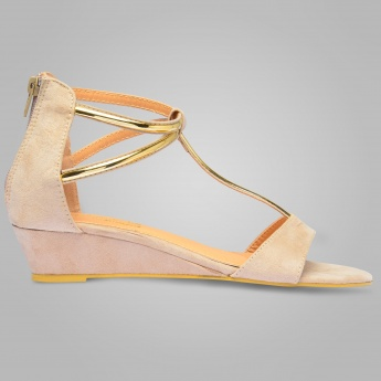 TRESMODE  Suede Mini Wedges