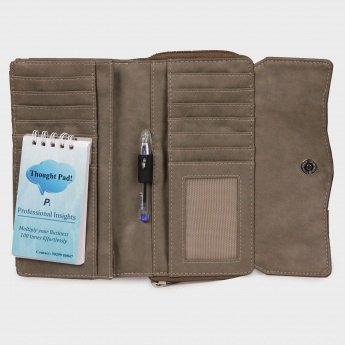 BAGGIT Zip Up Fold Over Wallet