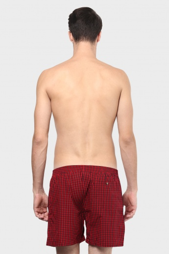 CHROMOZOME Checks Print Boxers - Pack of 2