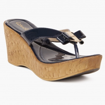 CATWALK Patent Finish Bow Detail Heels