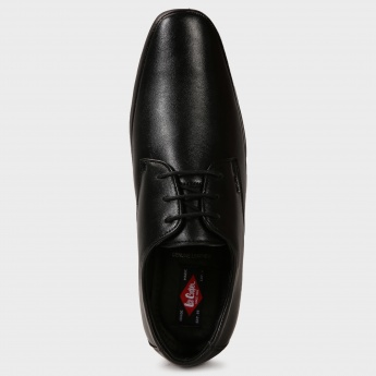 LEE COOPER Black Tie Derby Shoes