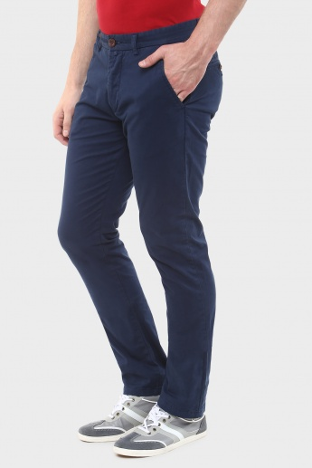 BREAKBOUNCE Flat-Front Slim Fit Trousers