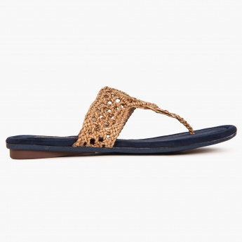 RAW HIDE Braided Strap Flats