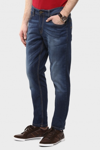 FORCA Whiskered Slim Fit Jeans