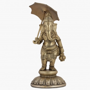 Mystic Ganesha With Umbrella Copper