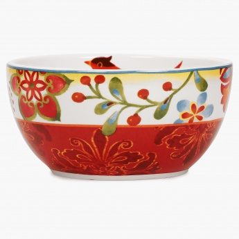 Carolina Ceramic Printed Rice Bowl