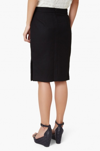 CODE Solid Double Slit Skirt