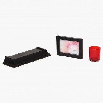 Shelf Rack- Votive & Photo Frame Gift Box- 3 Pcs.