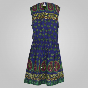JUNIORS Sleeveless Printed Dress
