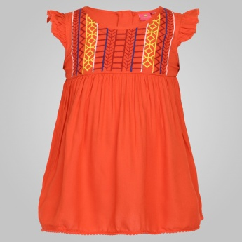 JUNIORS Embroidered Frock