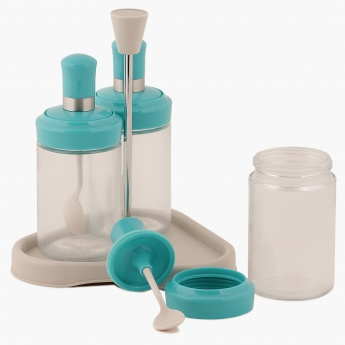 Mirage Condiment Serving Set With Stand- 4 Pcs.