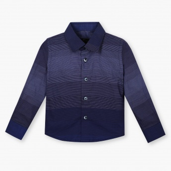 JUNIORS Striped Full Sleeves Shirt