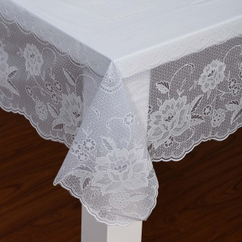 Elfin Embossed Sheer Table Cover