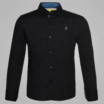 GINI & JONY Solid Full Sleeves Shirt