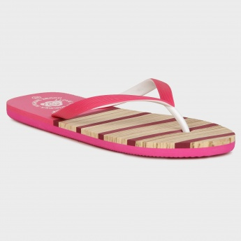GINGER Summer Stripes Flip Flops