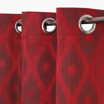 Jade Ethnic Opaque Door Curtain-Set Of 2
