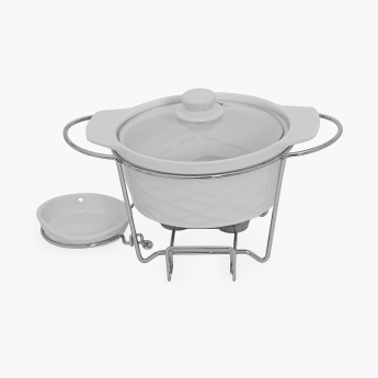 Veton Food Warmer With Lid & Metal Stand