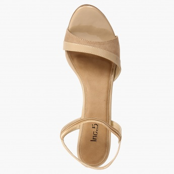 INC.5 Elasticated Ankle Strap Nude Heels