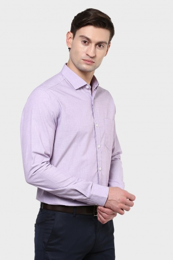 CODE Self Weave Full Sleeves Shirt