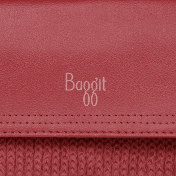 BAGGIT Braided Flap Wallet