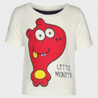 JUNIORS Little Monster Imprint T-Shirt