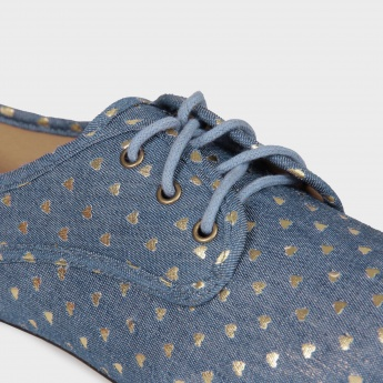 GINGER Shimmer Hearts Lace-Ups