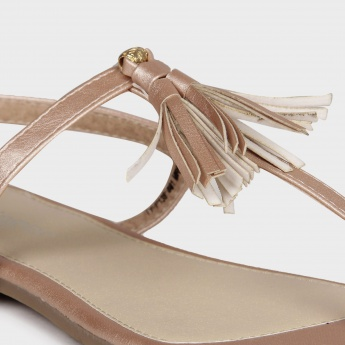GINGER Tasselled Fringe Sandals