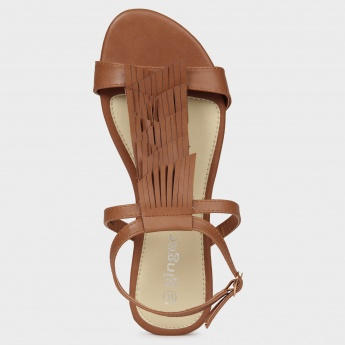 GINGER Fringed Layers Sandals