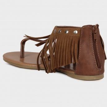 GINGER Cowboy Fringes Sandals