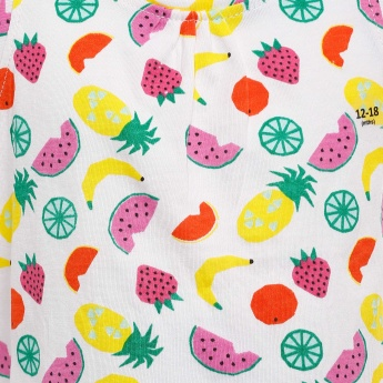 JUNIORS Fruity Print Sleeveless Top