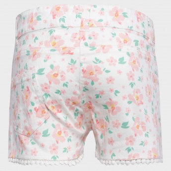 JUNIORS Floral Print Shorts