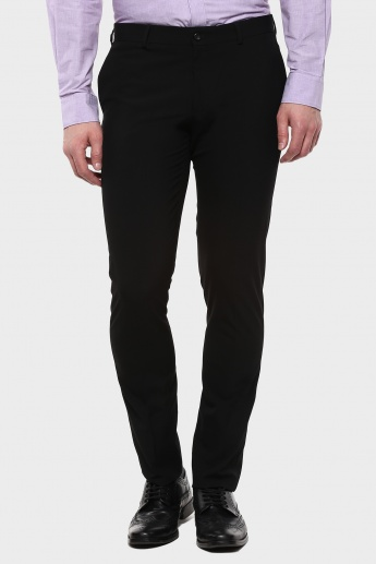 BLACKBERRYS Flat Front Regular Fit Trousers