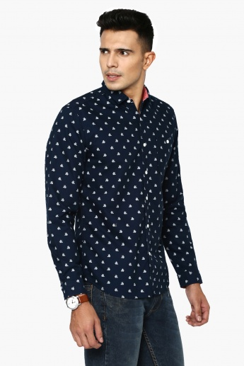 BOSSINI Regular Fit Printed Shirt