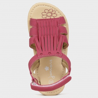 JUNIORS Fringed Sandals