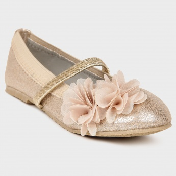JUNIORS Flower Applique Ballerinas