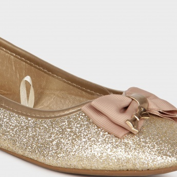 JUNIORS Glitters & Bow Ballerinas